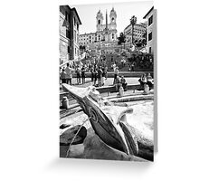 The Spanish Steps Greeting Card