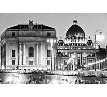 The Star Above St Peters Basilica Photographic Print