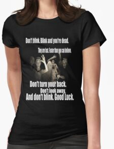 Doctor Who and the weeping angels Womens Fitted T-Shirt