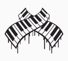 Cool Piano Keys Graffiti Design by Style-O-Mat