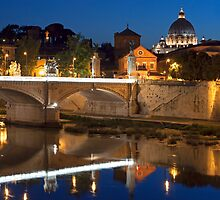 The Tiber Reflection by Adrian Alford Photography
