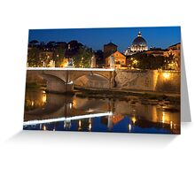The Tiber Reflection Greeting Card