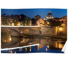 The Tiber Reflection Poster