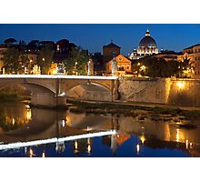 The Tiber Reflection Photographic Print