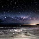 Primrose beach & the night sky  by Robert-Todd