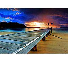 Little Beach Aglow Photographic Print