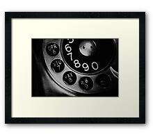 Vintage Phone Framed Print