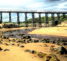 Kilcunda Railway Bridge. by Bette Devine