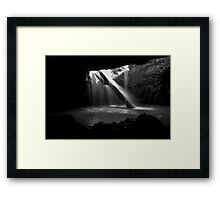 Visitor to Natural Bridge Framed Print
