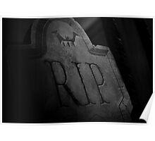 halloween rip gravestone Poster