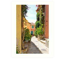Late Summer in Bormes Les Mimosas, Provence, France Art Print