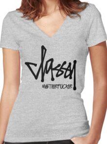 Classy Motherfucker Women's Fitted V-Neck T-Shirt