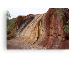 Ochre Hillside Canvas Print