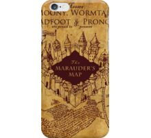 Marauders Map Harry Potter iPhone Case/Skin