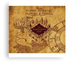 Marauders Map Harry Potter Canvas Print