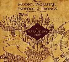 Marauders Map Harry Potter by Strother