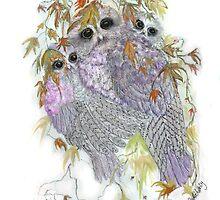 Owl Hugs by arlenedelahenty