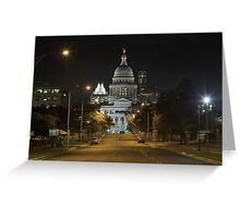 Austin Images - The Texas State Capitol at Night looking South Greeting Card