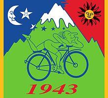 Hofmann's Bike ride LSD Blotter Art Psychedelic Tee by yinon