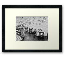 0354 creperie pencil sketched Framed Print