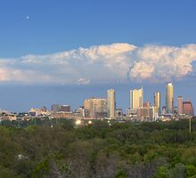 Austin Images - the Austin Skyline on an October Evening 1 by RobGreebonPhoto