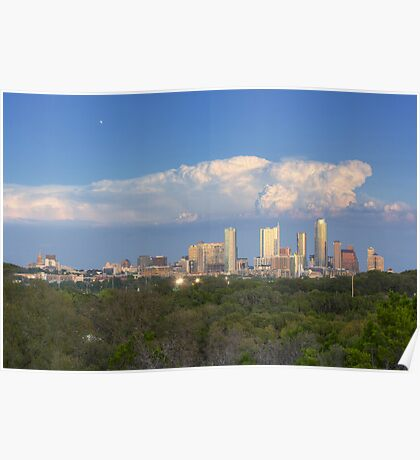 Austin Images - the Austin Skyline on an October Evening 1 Poster
