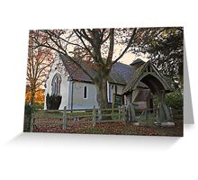 Country church at Bramdean Greeting Card