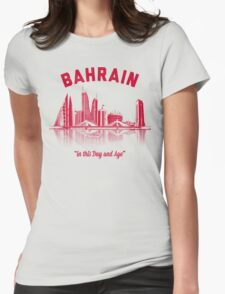 Bahrain Skyline Womens Fitted T-Shirt