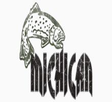 FISH MICHIGAN VINTAGE LOGO Kids Clothes