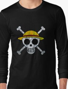 One Piece Straw Hat Pirates Logo Long Sleeve T-Shirt