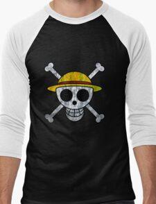 One Piece Straw Hat Pirates Logo Men's Baseball ¾ T-Shirt
