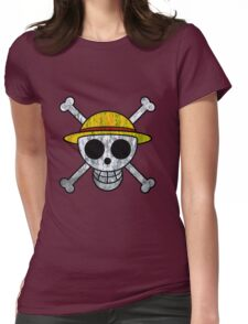 One Piece Straw Hat Pirates Logo Womens Fitted T-Shirt