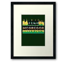 Team Conor Mcgregor Framed Print