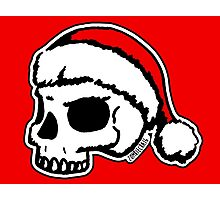 Santa Skull Christmas Photographic Print