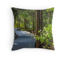 Path in Trees Throw Pillow