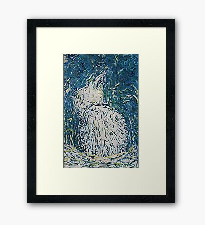 Hop, Bunny Hop, HOp, Hop Three! Framed Print