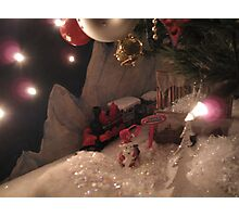 Christmas train set  Photographic Print