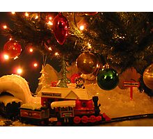 Christmas Tree Train Photographic Print