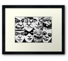 The DC Rogues Gallery 1 Framed Print