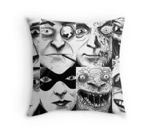 The DC Rogues Gallery 1 Throw Pillow