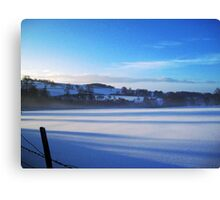 Winter in the Wolds Canvas Print