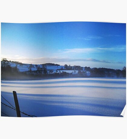 Winter in the Wolds Poster