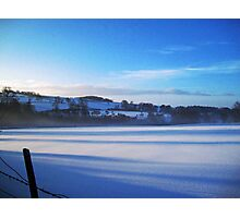 Winter in the Wolds Photographic Print