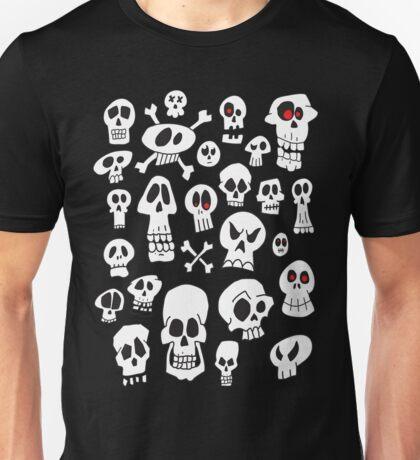 Hand Drawn Skulls Unisex T-Shirt