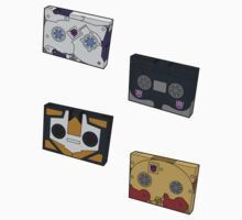 Decepticon Cassettes (stickers, set II)  / pillow by NDVs