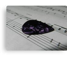 Guitar Pick & Music Canvas Print