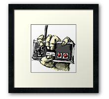 Zombie NES Framed Print
