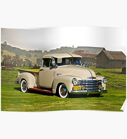 1949 Chevrolet Pick-Up Truck Poster
