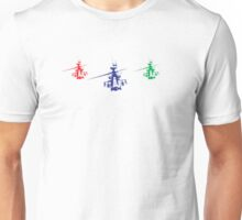 Multicolor helicopter Unisex T-Shirt
