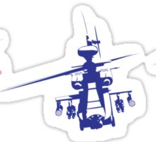 Multicolor helicopter Sticker